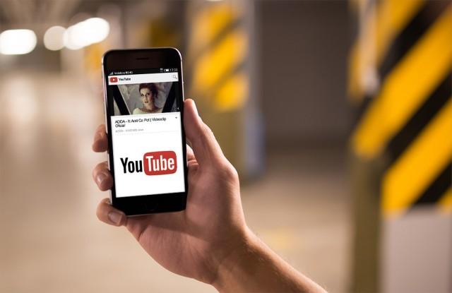 YouTube pe mobil